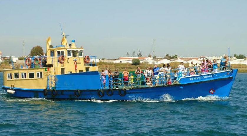 De barco até Ayamonte pelo doce rioGuadiana